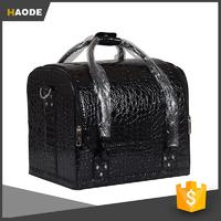 Professional Cosmetic Box Makeup Bag Travel Toiletry Bag , PU Leather
