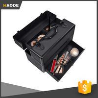 Large Aluminum Cosmetics Makeup Organizer Storage Train Case w Key Lock & Drawer